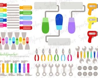 Rainbow Tool Planner Stickers