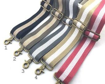 belt banduliere cotton 1 x 38mm bi - color gray ecru D35
