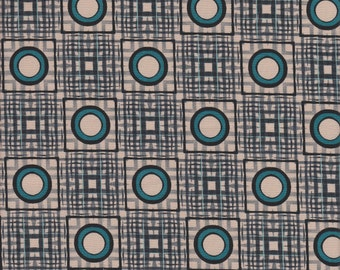 In The Beginning Fabrics Dogma Ikat Plaid in Teal -  Half Yard