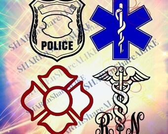 Police SVG Nurse Life 2018 Mom Star Life Ems DXF Paramedic  Rescue RN Fire Dad Love Team Hero Cricut Vinyl Shirt Mug Grade 2018 Decal.