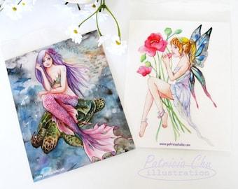 Mermaid & Fairy Postcard Set of 2