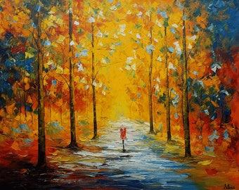 Canvas Art, Landscape Painting, Art, Large Art, Wall Art, Abstract Art, Large Painting, Oil Painting, Abstract Painting, Autumn Painting