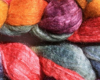 Polwarth Tussah Silk Spinning Fiber - 'Oh, My!'