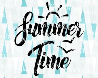 Summer Time SVG, Summer SVG, Sunshine SVG, Beach Svg, Ocean Svg, Travel Svg, Vacation Svg, Instant download, Eps - Dxf - Png - Svg