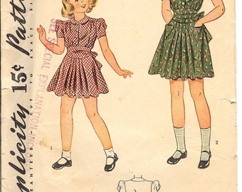 Simplicity 3546  Sewing Pattern  1940's Chlids Dress  ID570  Size 6
