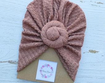 Blush Waffle Knit Turban