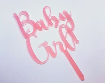 Baby Shower or Gender Reveal Party Cupcake or Small Cake Topper