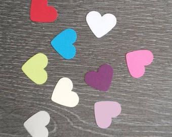 100 confetti hearts 2 colors