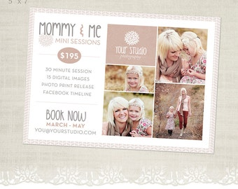 Mother's Day Mini Session Template for Photographers - Mommy and Me - MS33