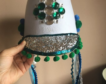Blue & Green Marching Hat