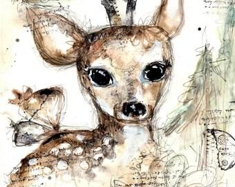 Deer Magic- art print