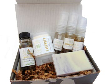 Mini Travel Sampler Pack, 6-Piece, Travel Friendly, Natural Skin Care, Bath and Body, Spa Set, Aromatherapy