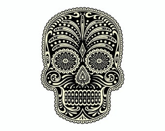 Day Of The Dead Sugar Skull Vinyl Car Decal Sticker