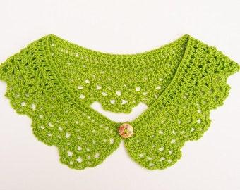 Apple Green Crochet Collar Women Accessory