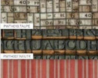 "Tim Holtz Fabric Eclectic Elements MELANGE 12""x12"" Fabric Crafting Pack"