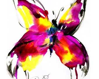 Butterfly Song No. 56 ...  art archival print from original painting by Kathy Morton Stanion EBSQ