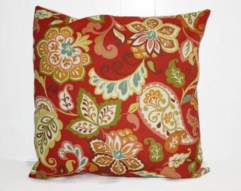Decorative Outdoor Throw Pillow, Waverly Floral Outdoor Throw Pillow Cover 16x16 , 14x21