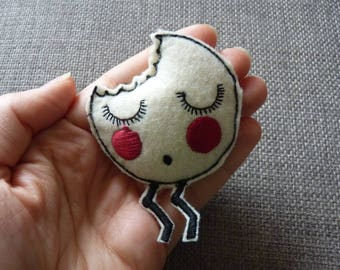 Felt Bitten Cookie Pin Brooch