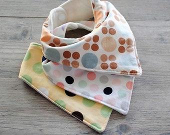 Bandana Bib Set Baby Bib Baby Bandana Bib Droll Bib Organic Baby Bib Cotton Baby Bib Organic Bandana Bib Cotton Bandana Bib Set of 3 Bibs