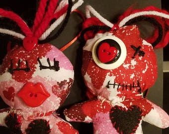 Valentine Voodoo Doll set of 2