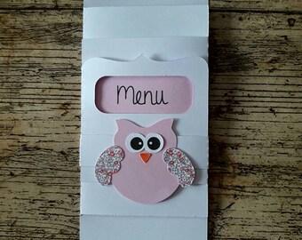 OWL themed menu