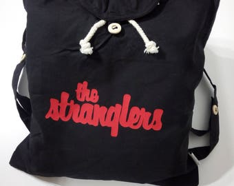 The Stranglers Black Backpack 100% Organic Cotton by Ameiva Apparel