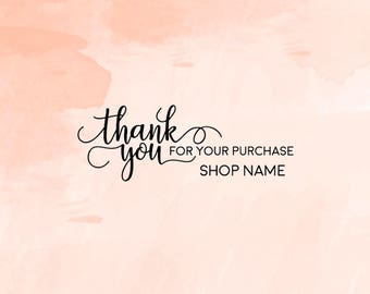 Thank You for your purchase, Business Thank You Stamp, Packaging Stamp, Thank You Business Stamp, Shop Stamp - CB733