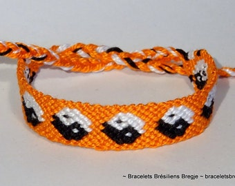 Yin Yang friendship bracelet - macrame, braided, Chinese, balance, beachwear, bresilien, harmony, China, folk, nature, tao