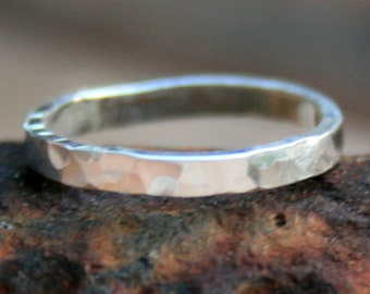 Sterling Silver Ring - Hammered Band