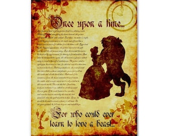 Beauty and the Beast Inspired Art Print