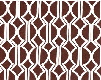 Sale!  One Fat Quarter - Josi Severson - Original Screen Printed Canvas Organic Fabric - Oliver Brut Brown