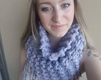Chunky knit cowl, knit scarf, cozy winter cowl//The Cadboro Cowl //