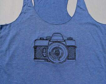 Hipster Camera Tank Top, Vintage Camera Shirt, Gift for Photographers, Custom Shirt