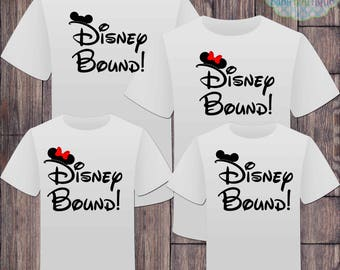 Disney Bound Family Tshirts - Mickey Minnie Mouse Vacation - Disney Inspired - Matching Shirts - Family Shirts
