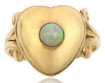 Antique Opal Locket Ring