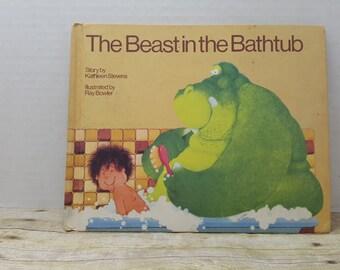 The Beast in The Bathtub, 1985, Kathleen Stevens, Ray Bowler, vintage kids book