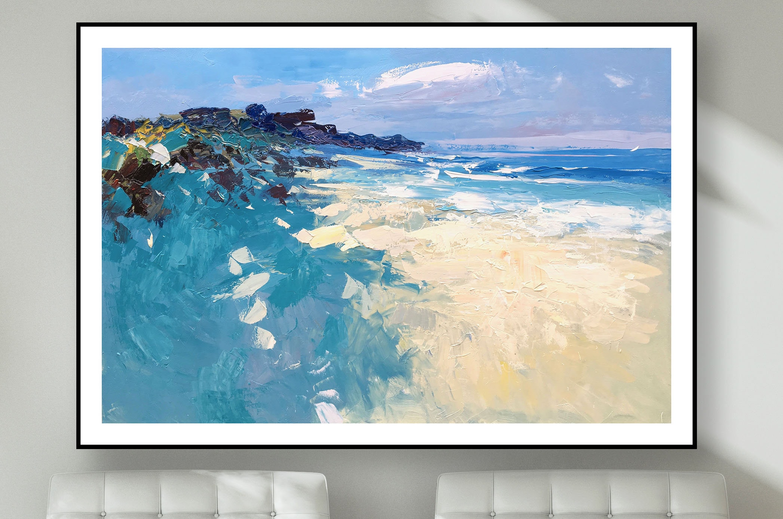Strand-Drucke Meer Drucke Ozean Drucke Strand-Wand-Kunst