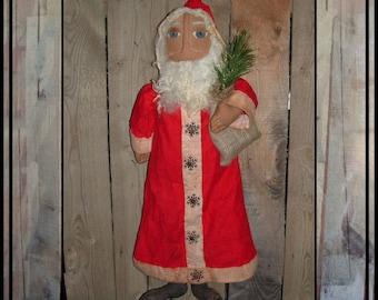 SALE mailed paper pattern Primitive Kris Kringle Santa snowflakes soft sculpted HAFAIR HAGUILD ofg faap 502