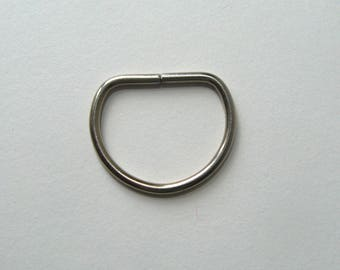 Ring D, soldered, silver, 30 X 25, sewing, creating.