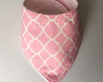Bib style vintage pink bandana