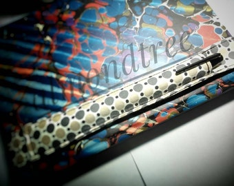 Retro notebook elastic band pen holder filofax traveller bandolier stationery sketch book, journal moleskin pencil case id1370359