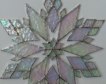 stained glass snowflake suncatcher (design 21C)
