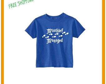 Harry Potter Mischief Managed T-Shirts / Toddler / Children / Short Sleeve / FREE SHIPPING