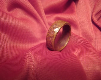 Ring--Size 8--Hand Hammered Solid Copper
