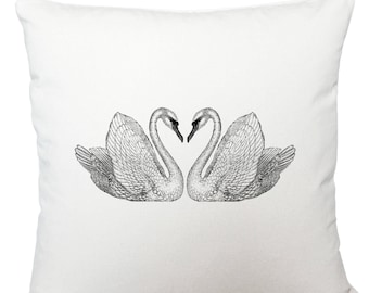 Cushions/ cushion cover/ scatter cushions/ throw cushions/ white cushion/ swans cushion cover