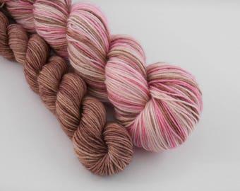 LOVE SOCK self-striping, 024, merino nylon sock yarn,100g