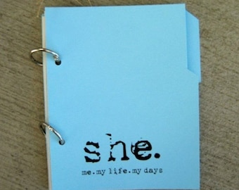 Mixed Paper, Writing Prompt Journal - Blue Sky