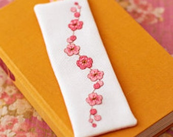 Pink cherry blossom flower - Modern cross stitch pattern PDF instant download