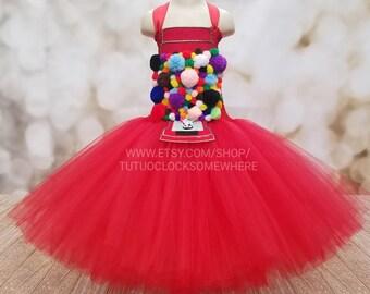 Customizable Gumball Machine Tutu Dress, Bubblegum Dress, Gumball Machine Costume, Candy Dress, Candy Costume, Gumball Dress, Gumball Outfit