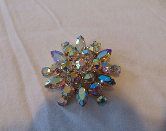 juliana aurora borealis crystal brooch